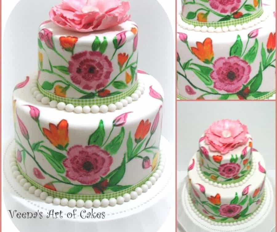Painting on cakes a simple and easy tutorial.