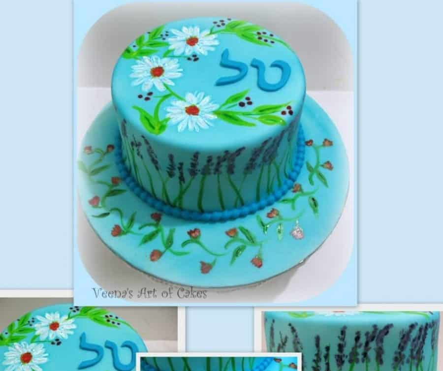 A hand painted cake.