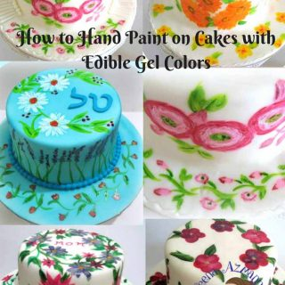 Hand Painting on cakes can be fun!! The right brushes, the right colors and you all good. Here's are a few tips and insight you need to know about how to hand paint on cakes with edible gel colors.