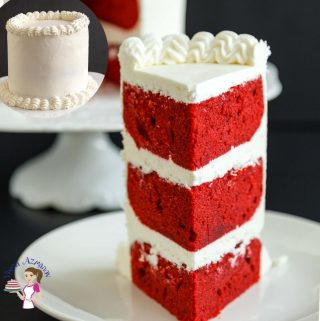 Homemade Cake Recipe Vanilla with a hint of cocoa and red food color, red velvet cake