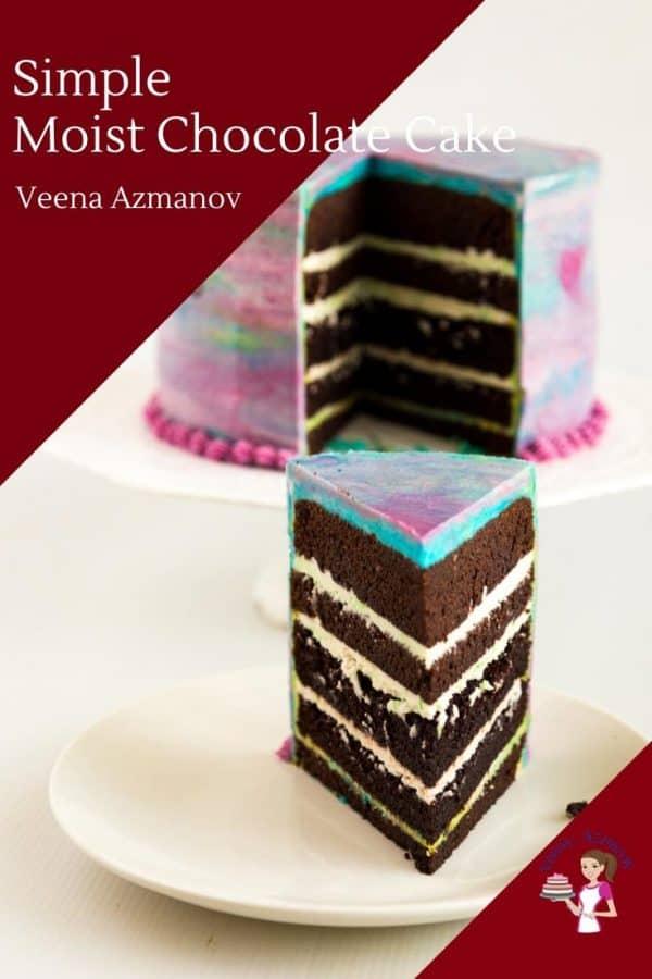 Homemade Chocolate Cake simple and moist recipe