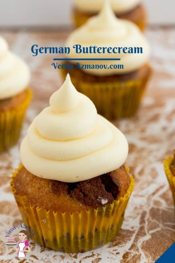 Pinterest image for Pastry Cream Frosting.