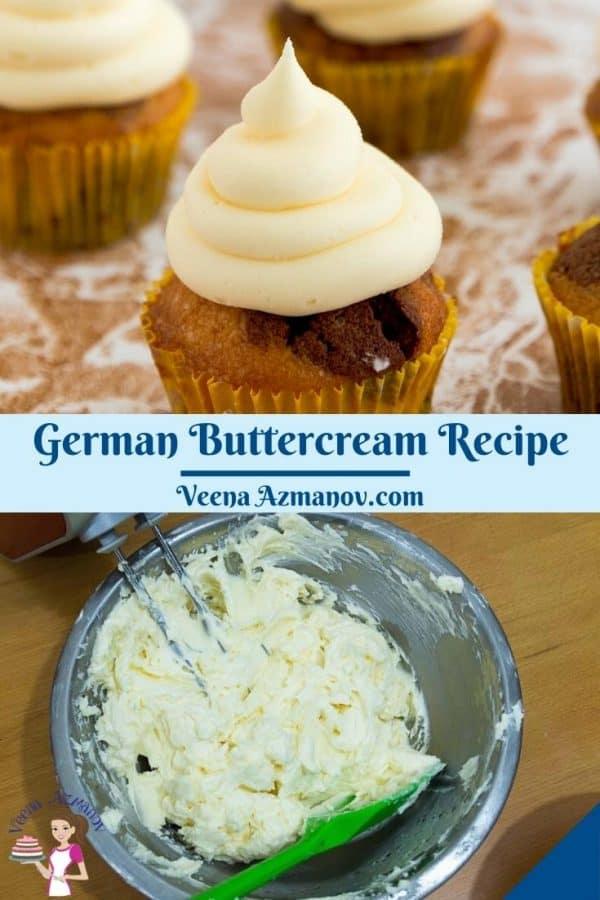 Pinterest image for German Custard Based Buttercream.