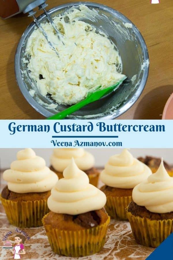 Pinterest image for German Buttercream.