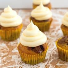 Cupcakes frosted with German Frosting.