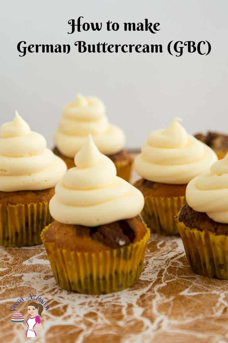 Cupcakes decorated with buttercream frosting.