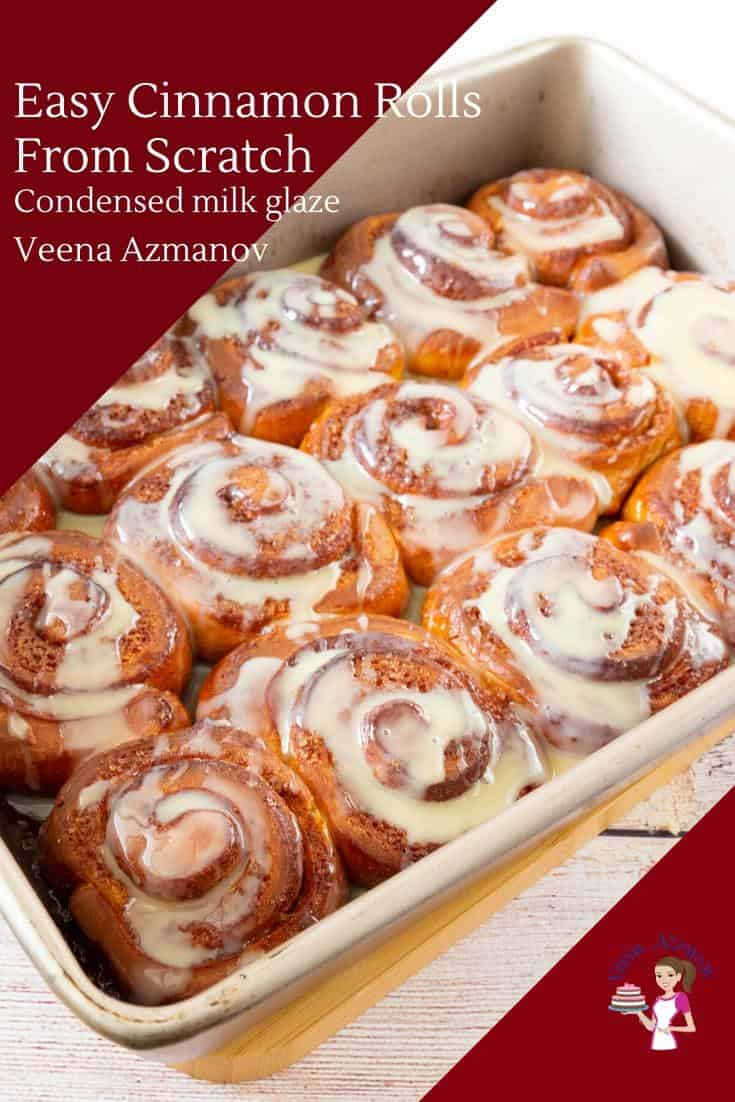 These cinnamon rolls are finger-licking delicious. Soft, light and fluffy loaded with cinnamon flavor then topped with a condensed milk glaze. The recipe is simple and easy and my fool-proof recipe so even if you are a beginner you will master these the very first attempt.  #cinnamonrolls #cinnamon #rolls #breadrolls #baking #bread #sweet #dessert  via @Veenaazmanov