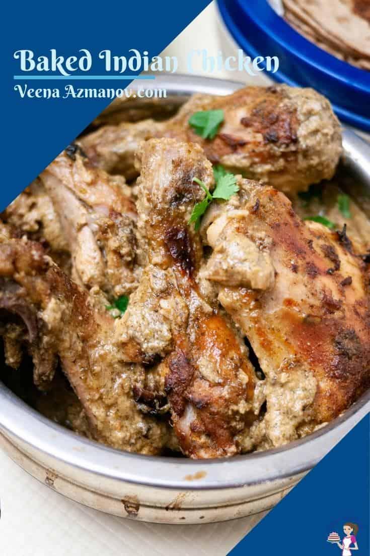 Pinterest image for baked chicken