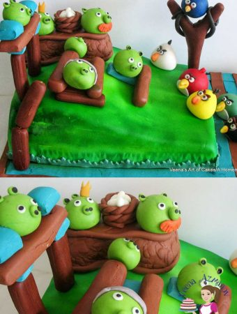 Angry Birds Cake with Toppers