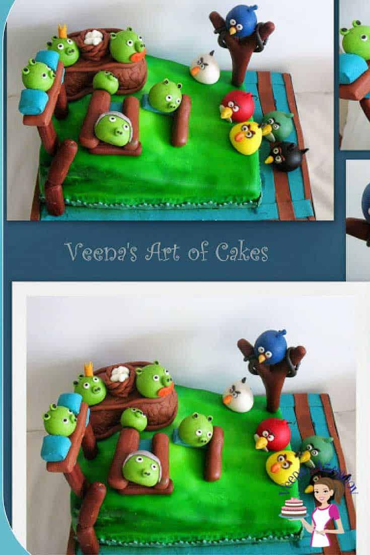 Angry Birds Ice Cream Cake
