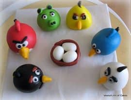 Gum paste Angry Birds