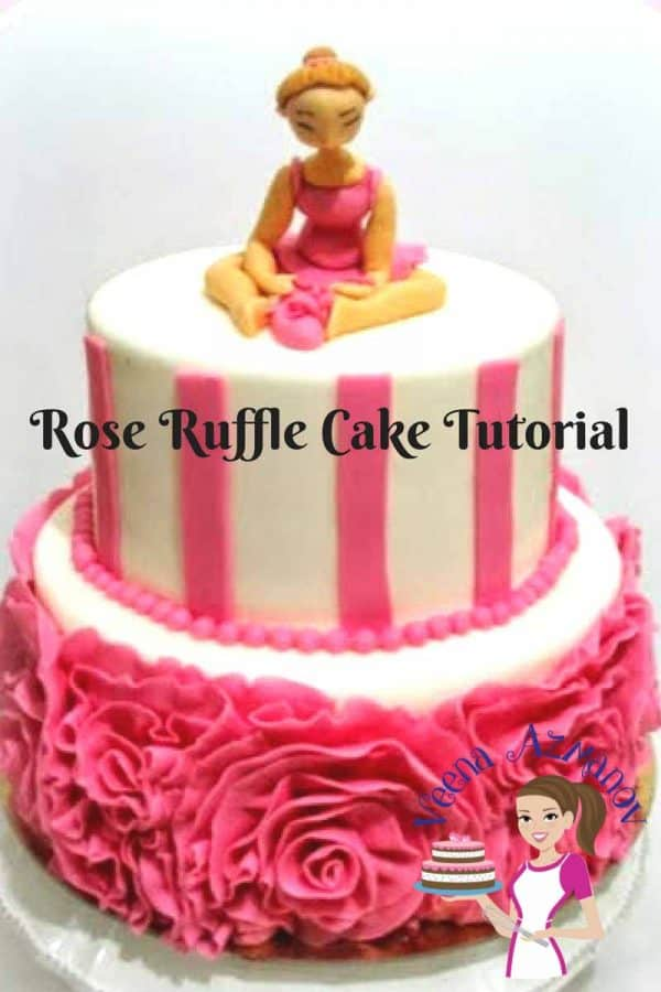 Rose Ruffle look absolutely gorgeous on a cake, but they do take forever to finish. The plus about ruffles is that no matter how badly you think you made your ruffles they do end up look absolutely gorgeous.