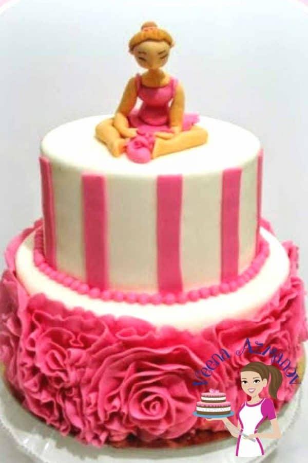 Fondant Rose Ruffle Cake Tutorial Veena Azmanov