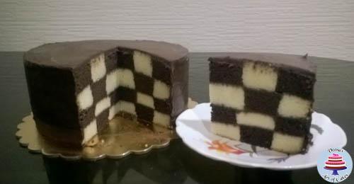Checker Board Cake-1