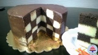 How to make a Checker Board Cake