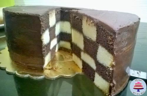 Checker Board Cake-8