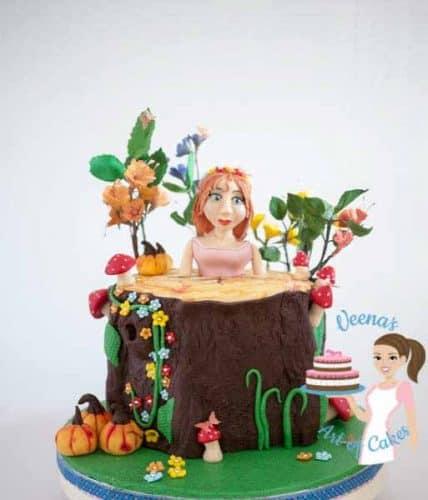 Enchanted Forest Princess Cake (2)