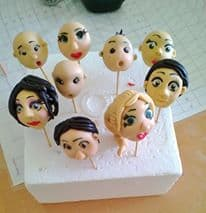 How to make Hair for Gum Paste Figures