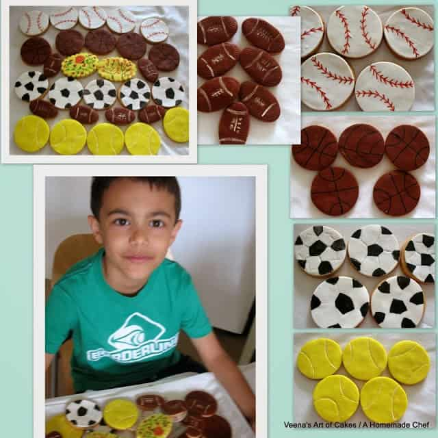 Sports Theme Cupcakes