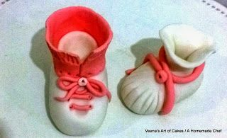 Gum paste Baby Shoes