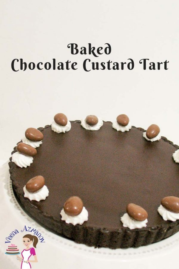 Chocolate custard tart.
