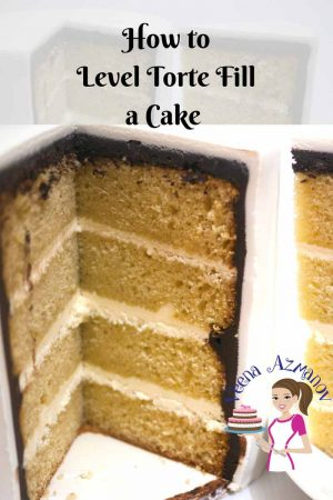 How to Level Torte Fill a cake Cake Decorating Basics