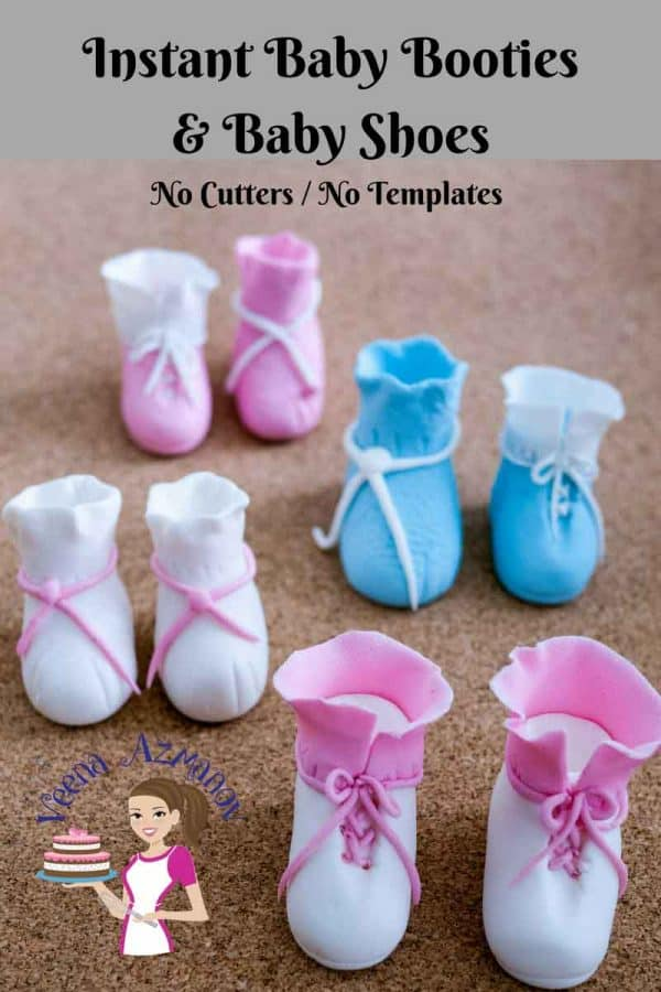 There is nothing more cuter than a little Baby Booties Baby Shoes cake toppers on a baby shower cake. In this video I show you how to make these cute and adorable baby booties and baby shoes without any cutter, templates or special equipment.