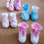Baby Booties Baby Shoes Cake Toppers (No Cutters No Templates)