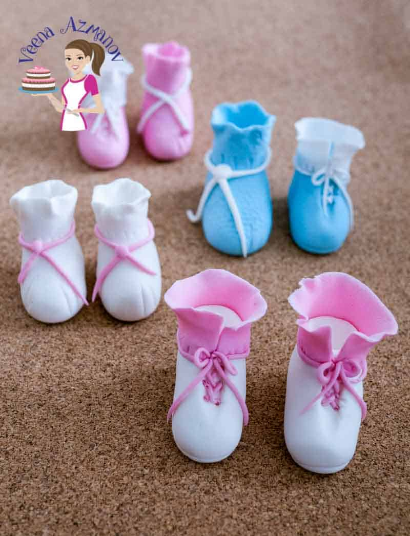 Baby Booties Baby Shoes Cake Toppers