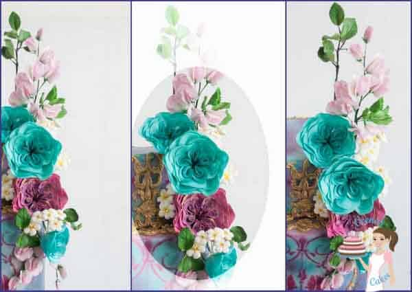 Gum paste Cabbage Rose is an amazing vidoe tutorial in full details - packed with all information from tools to dust and more by Veena Azmanov of Veenas Art of Cakes