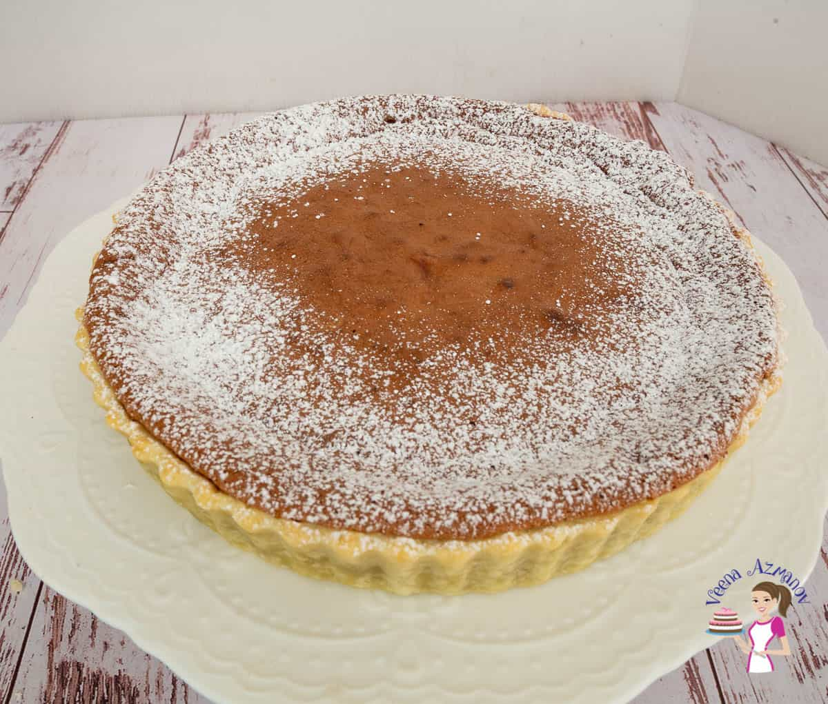 A chocolate soufflé tart.