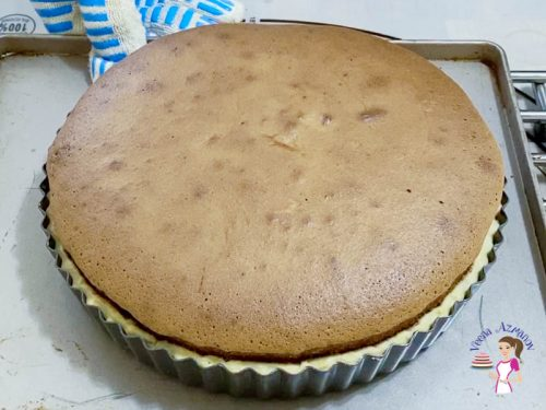 Bake the chocolate soffle tart