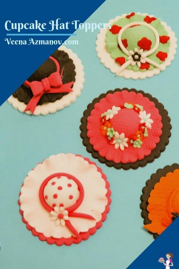 Hat cupcake toppers pinterest image