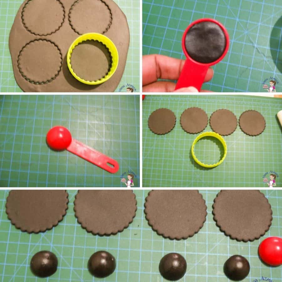A collage tutorial for black cupcake toppers