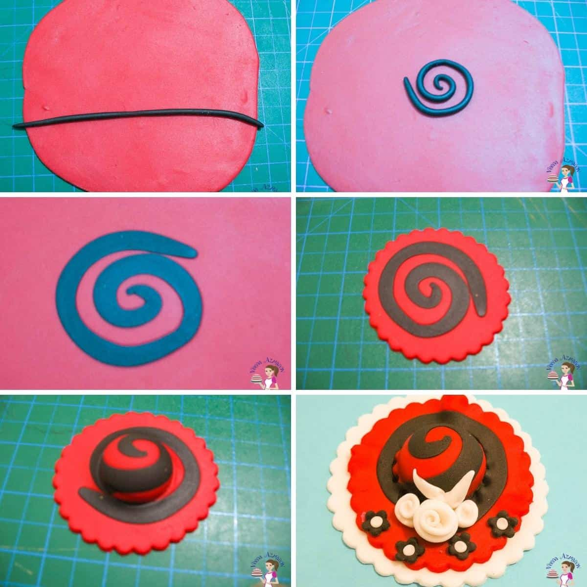 A collage for hat toppers
