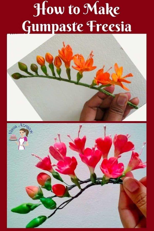 Gum paste freesia flowers.