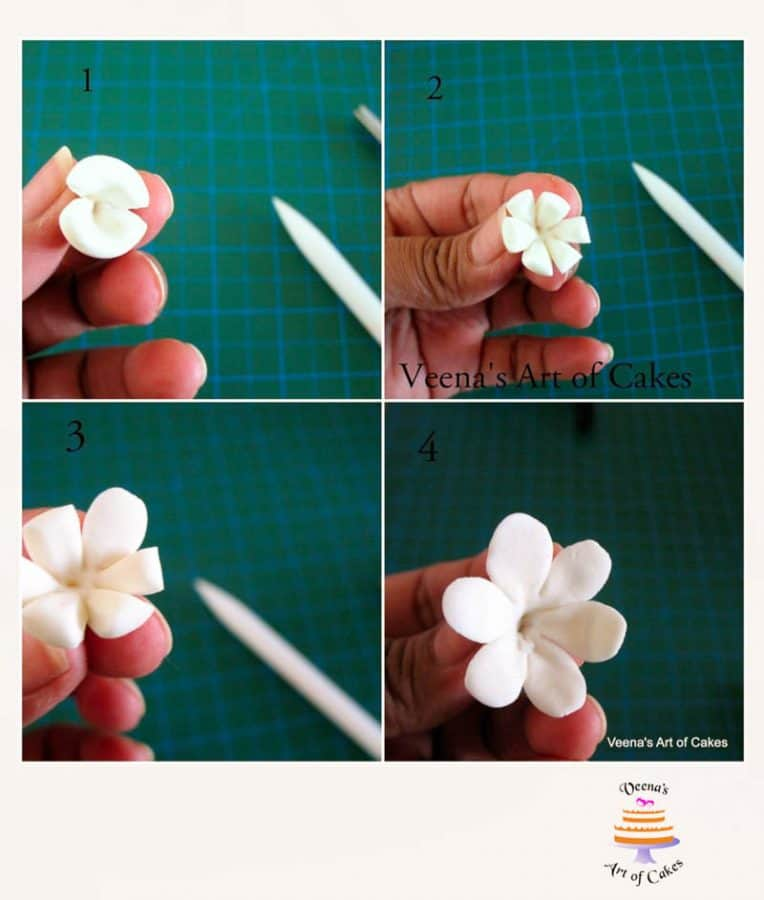 Sugar Flower Tutorial - Freesia Flowers - Progress Pictures