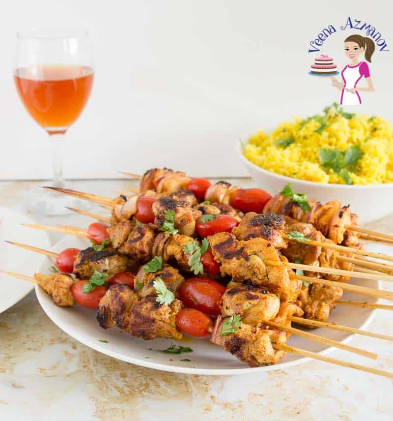 Chicken Kebabs Middle Eastern Veena Azmanov