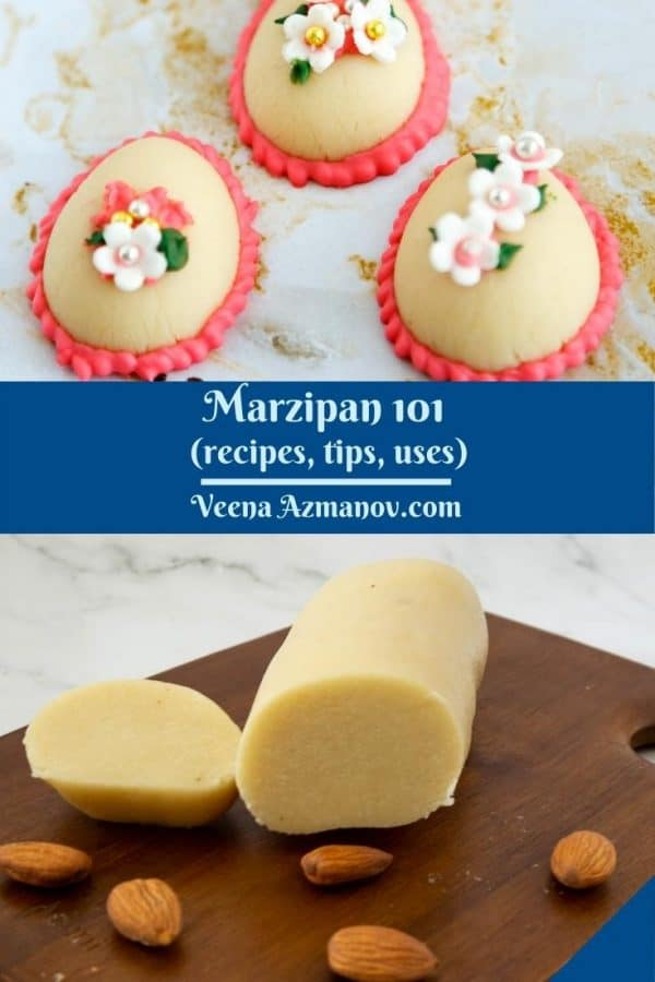 Pinterest image for marzipan.