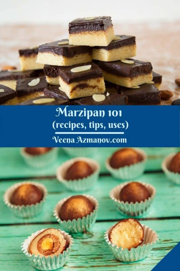 Pinterest image for marzipan tips and uses.
