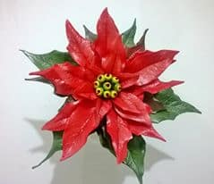 Gum Paste Poinsettias