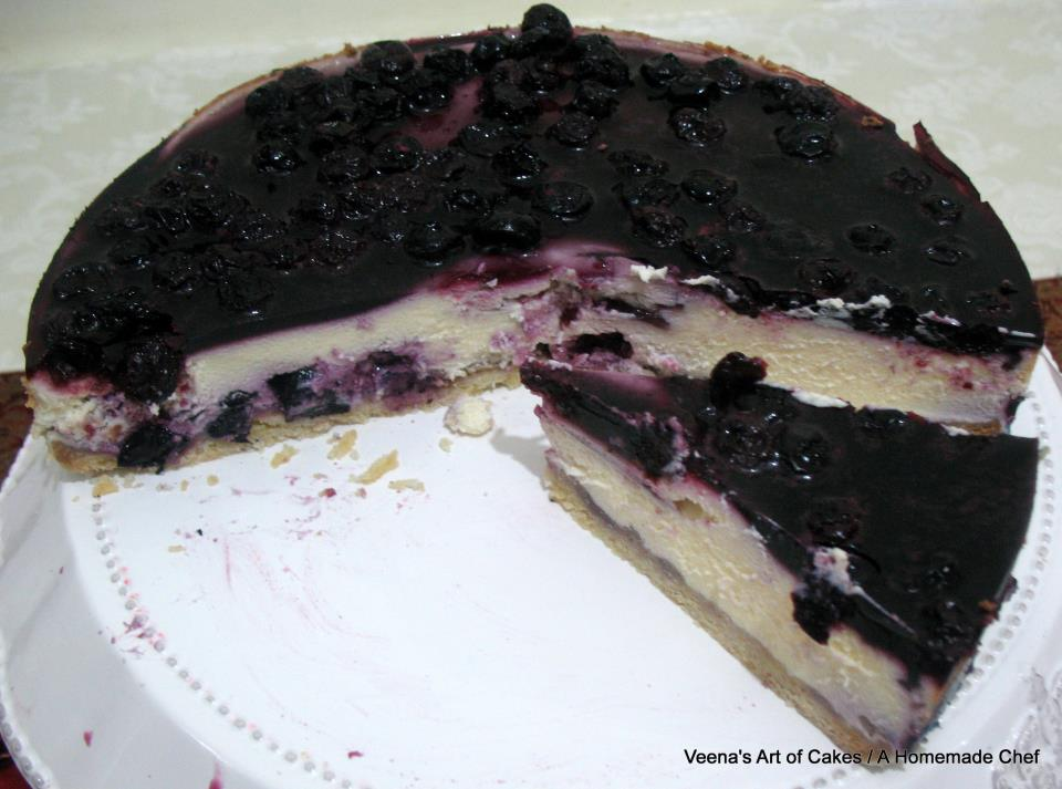 Blueberry Cheesecake - A Homemade Chef
