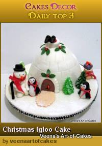 Christmas Igloo Cake