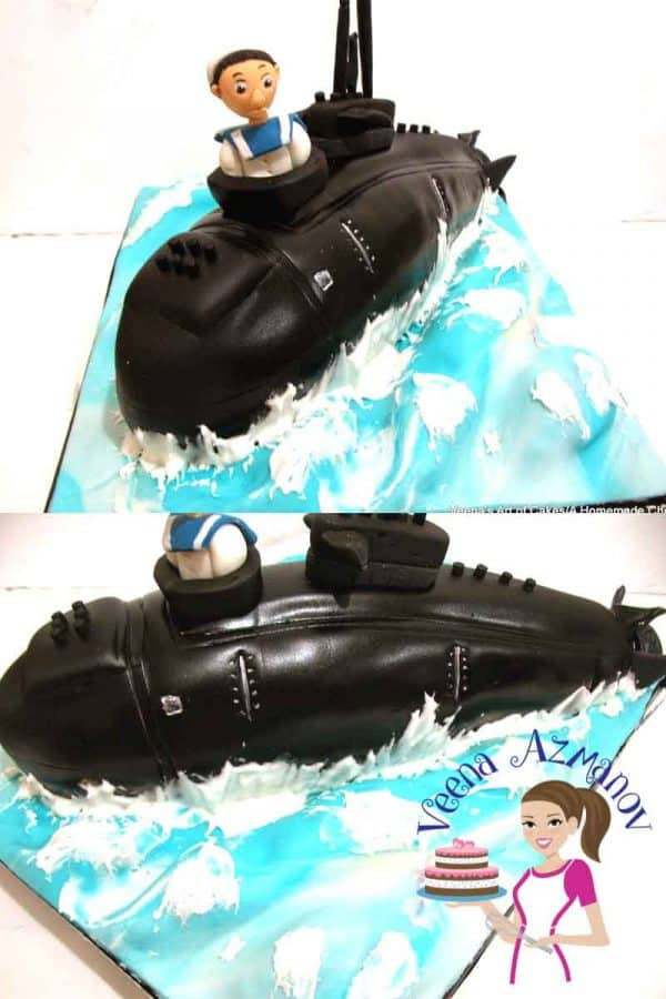 Submarine Cake Cake Decorating Tutorials Veena Azmanov