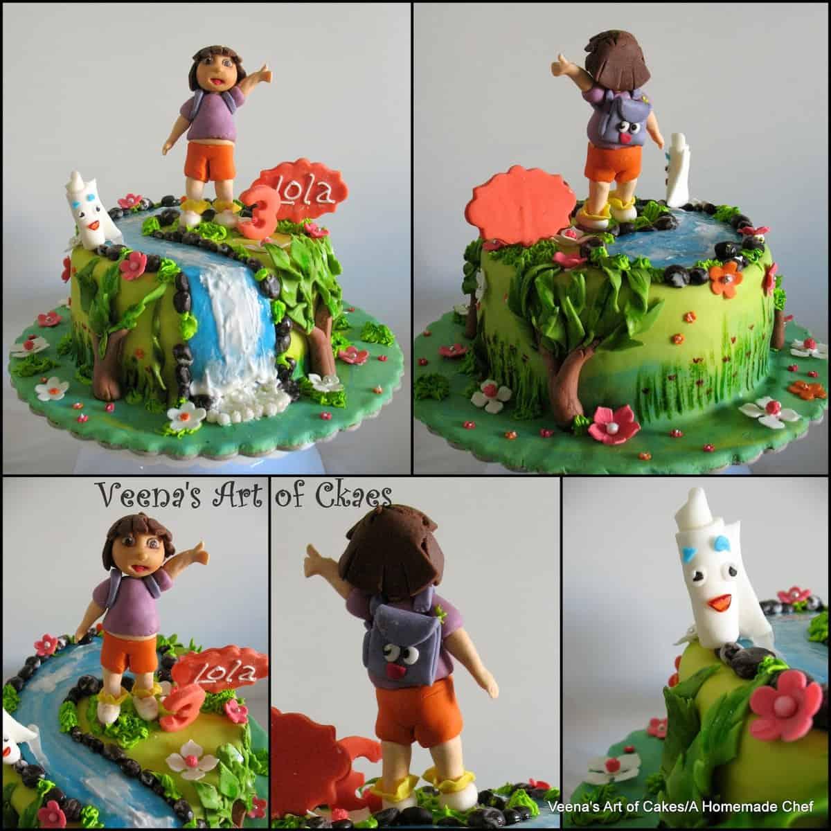 Dora The Explorer Cake Veena Azmanov