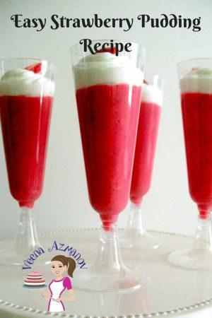 Easy Strawberry Pudding Recipe – Eggless