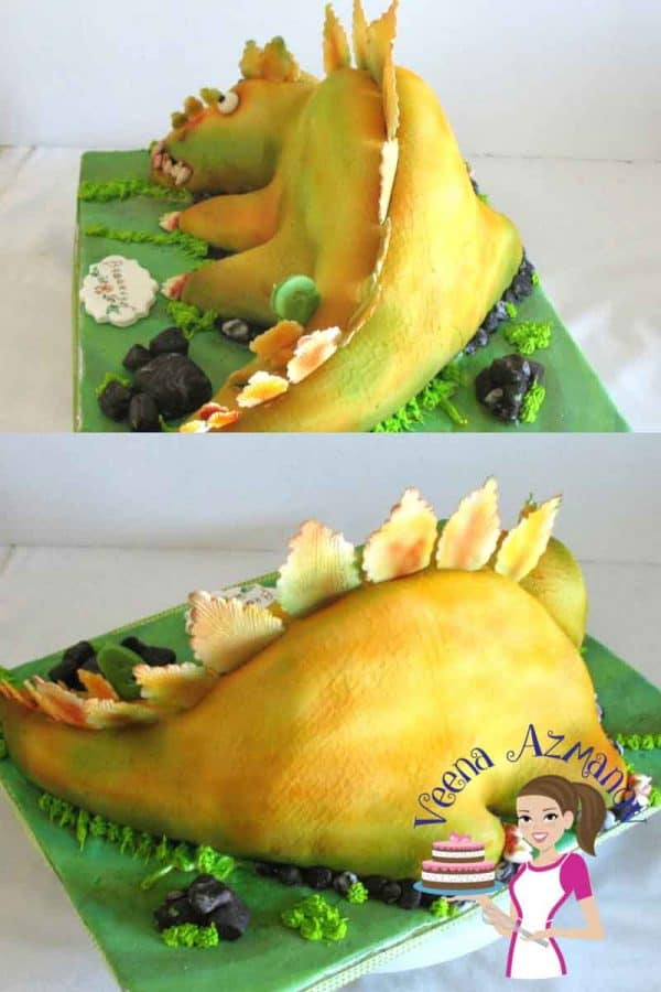 A Dinosaur Cake is great for a kids birthday. This was made for a 5 year old boy who loves Dinosaurs. In this video I share all details of how I made this Dinosaur cake. I hope you find it useful.