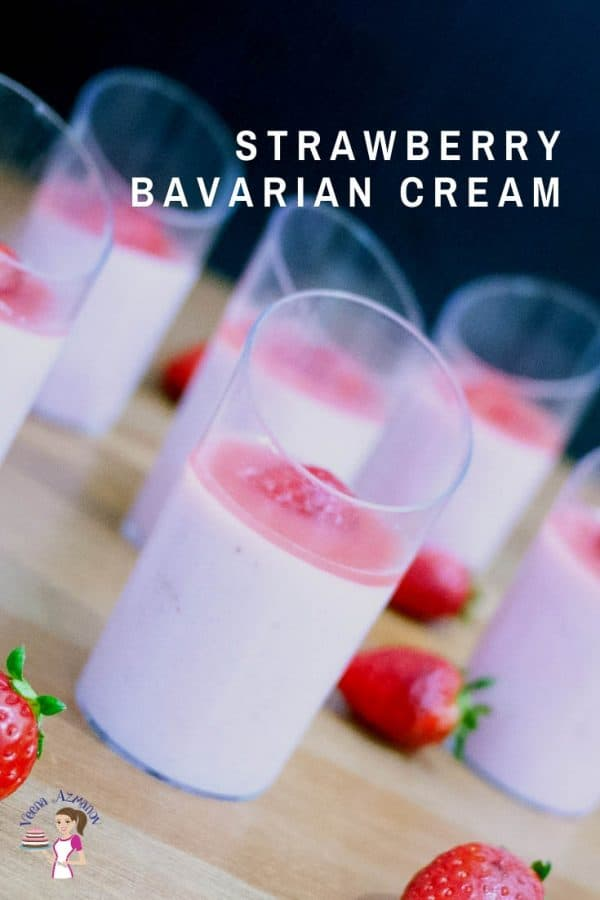 Cups of Bavarian cream.
