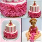 Fondant Rose Ruffle Cake