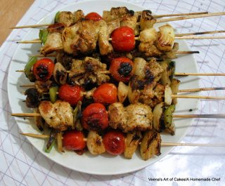 Chicken Kebabs Middle Eastern Style